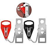 JCAsla Portable Door Lock, 2Pcs Travel Locks Hotel Door Lock for Additional Safety and Privacy Door Lock Security Devices for Home, Hotel, School,Apartment (Security Door Lock)