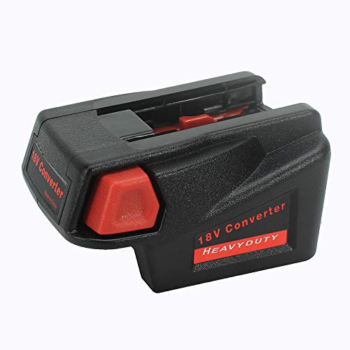 Tbattplus Adapter Converter for Milwaukee M18 18V Li-ion Battery to Milwaukee V18 48-11-1830 Battery;48-11-2200 48-11-2230 18V NI-CD Tool Battery Battery