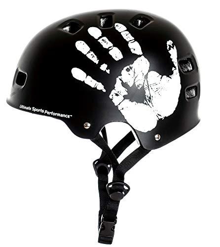 """Sport Direct™ \""""Die Hand\"""" BMX-Skate schwarz Fahrrad Helm 55-59cm"""