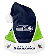 Seattle Seahawks Officially Licensed Holiday Santa Hat Collectible Hand-Crafted Manufactured by Team Beans LLC. All Rights Reserved Seattle Seahawks