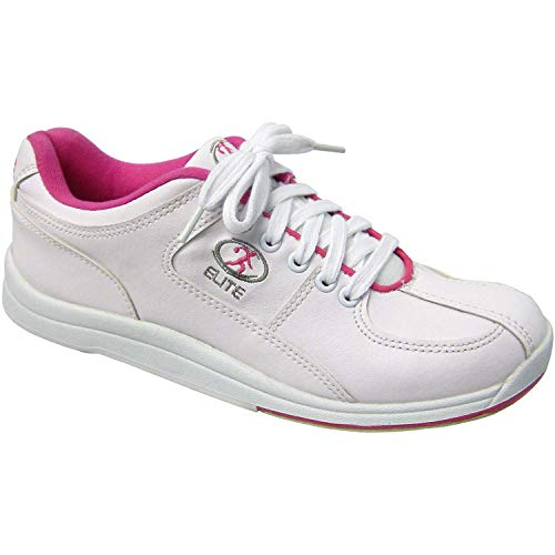 Elite Ariel Pink Womens Bowling Shoes - Quality & Comfortable - Universal Slide Sole for Left & Right Handed Bowlers (Size 9)
