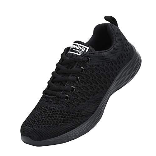 CXWRZB Mujer Hombre Gimnasia Ligero Sneakers Zapatillas de Deportivos de Running para Negro 39 EU