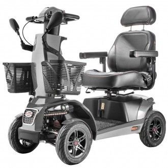Freerider FR1 Mobility 4-Wheel Sporty Heavy Duty Rugged Scooter (Dark Metallic Grey)