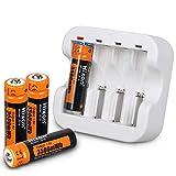 Hixon Batterie AA rechargeable Li-ion 1,5 V 3500 mWh pour manette Xbox Jouet...