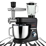SanLidA 6-IN-1 Stand Mixer, 9.5 Qt. Multifunctional Electric Kitchen Mixer with 9 Accessories for Most Home Cooks, SM-1507BM, Nero Nemesis Black