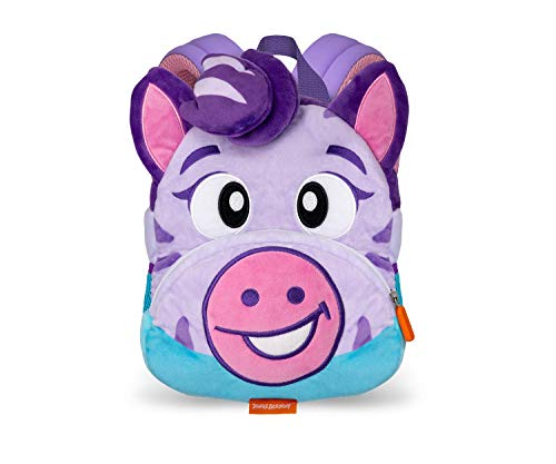 Jungle Academy Toddler Plush Backpack, Zoe the Zebra