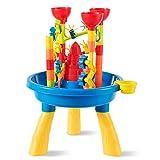 DREAMADE Table d'Activité de Sable et Eau pour Enfant, Table de Jeu de Plage avec Accsseoires Riches pour Enfant Plus de 3 Ans, pour Intérieur et Extérieur