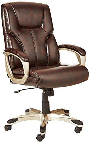 AmazonBasics High-Back Executive Swivel Office Computer Desk...