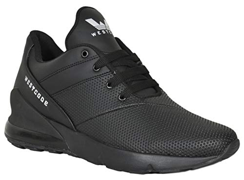 West Code Mens Synthetic Leather Casual Hip Hop Shoes T-270 Black 8 Size