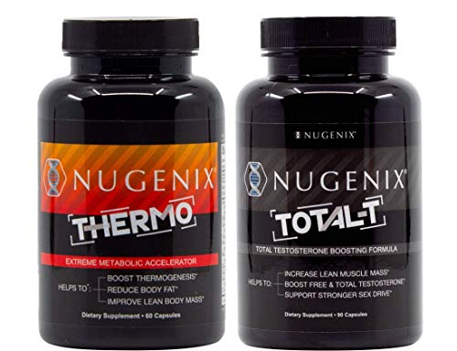 Nugenix Thermo and Total-T - Thermogenic Fat Burner and Total Testosterone Booster for Men 1