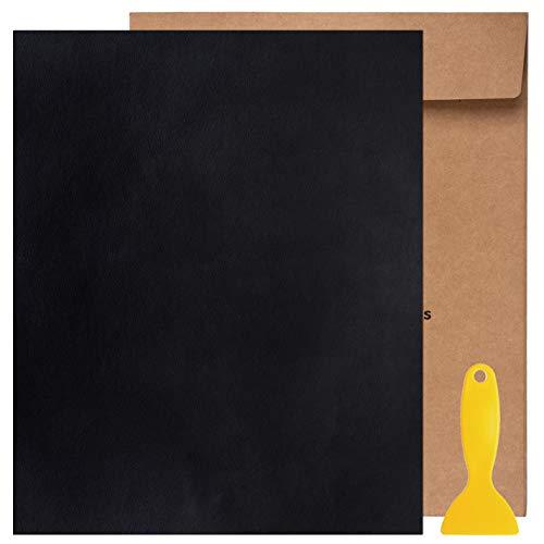 Totofy Patch di Riparazione in Pelle, Patch Pelle Adesiva,per Divano, seggiolino Auto, mobili, Giacca, Zaino, 25 x 30 cm (Nero 1pcs)