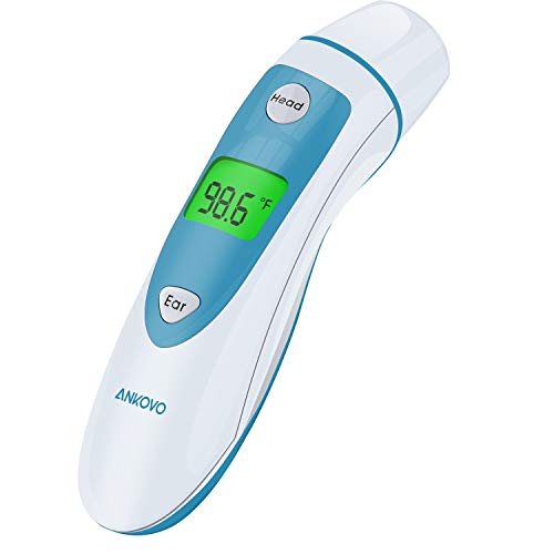 ANKOVO Digital Medical Infrared Forehead and Ear Thermometer