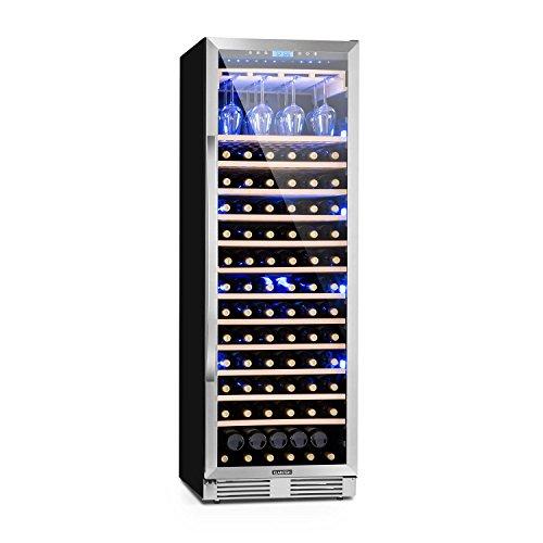 Klarstein Vinovilla Grande - Frigorifero per vino, 425 l, 165 bottiglie, 13 ripiani, Touch Control,...