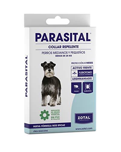 Zotal Parasital Collar Repelente Perros (Peq./Med, PEQUEÑOS Y...