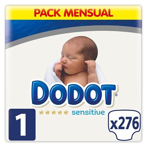 Dodot Pañales Bebé Sensitive Talla 1 (2-5 kg), 276 Pañale