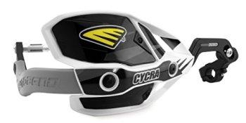 """Cycra 1CYC-7408-12X Ultra ProBend CRM Paramanos - Abrazadera de 1-1/8"""" - Blanco/Negro/Gris"""