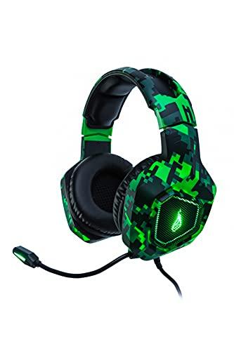 SureFire Skirmish Gaming Headset I Headset PC ; Playstation I Gaming Kopfhörer I 390g I mit Stereo 2.0-Sound und LED-Beleuchtung I Headset Gaming I USB 3.2 Gen 1