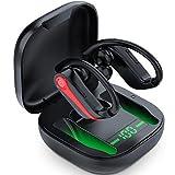 Bluetooth 5.1 Kopfhörer Sport, Kopfhörer Kabellos Sport, 40H Spielzeit Bass Sports Headset, IPX7 Wasserdicht In Ear Ohrhörer Wireless Earbuds mit HD Mic, CVC8.0 Noise Cancelling, Für Laufen, Training