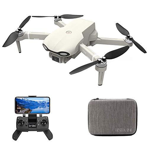 le-idea IDEA39 GPS Drone con Telecamera Pieghevole 4K UHD, Motore brushless, Trasmissione WiFi 5GHz, Posizionamento del Flusso Ottico, Controllo Gestuale, Ultraleggero e Portatile RC Quadricottero