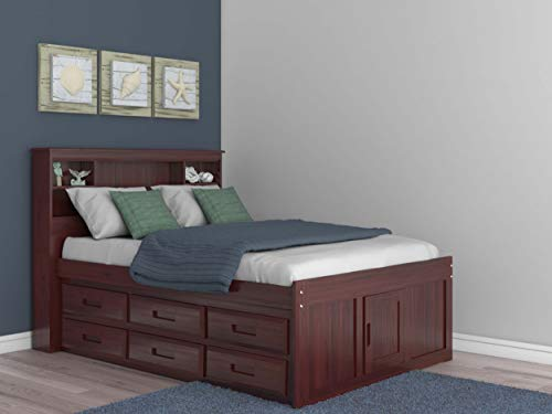 bed frame with drawers and headboard