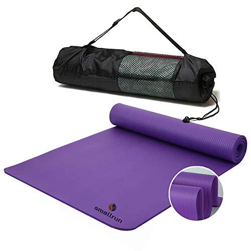 Smallrun Esterilla Yoga Esterilla Pilates Antideslizante 10mm Alfombrilla de Yoga...
