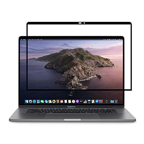 Moshi iVisor Pro Screen Protector for 2018 New MacBook pro 13 with Touch bar/Without Touch bar (2016-2017) - Black-Clear