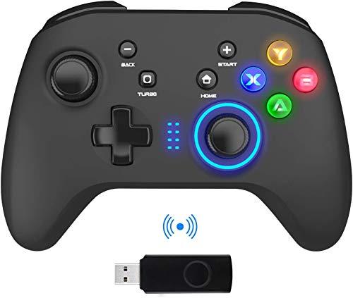 Mandos Inalámbricos para PC, Gamepad con Doble Vibración Controlador...