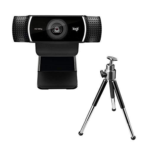 Logitech C922 Pro Stream Webcam, Streaming Veloce HD 1080p/30fps o HD 720p/60fps, Correzione Luce HD, Autofocus, Audio Stereo, Per YouTube, Twitch, XSplit, PC/Mac/Laptop/Macbook/Tablet, Nero