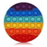 BDwing Push Pop Bubble Sensory Fidget Toy, Giocattolo Sensoriale per Autismo Bisogno Speciale Antistress Ansia Sollievo, ColorfulSpremere Giocattoli a Bolle di Estrusione per Bambini Adulti (rainbow)