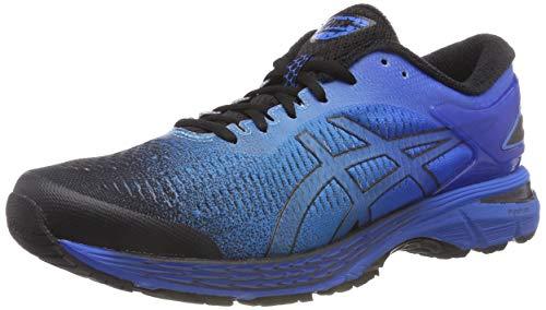 ASICS Men's Gel-Kayano 25 Running Shoes, Black/Black/Blue, 8 US