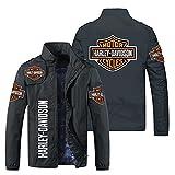 MYJOYSUE Sweat à Capuche Homme Chandail Manteau Impression numérique 3D Harley Davidson Fermeture éclair À Manches Longues Veste, Convient pour Le Printemps Automne