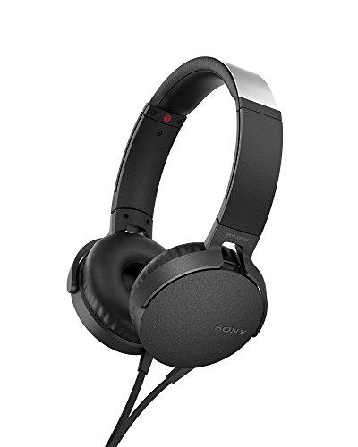 Sony MDR-XB550AP - Cuffie on-ear EXTRA BASS con microfono, Archetto regolabile, Nero