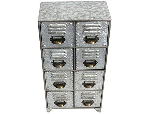 SK Industrial Metal Cabinet - 8 Drawer Unit With A Distressed Look