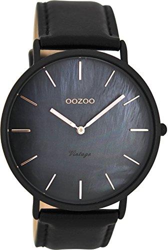 Oozoo Herren Digital Quarz Uhr mit Leder Armband C8134