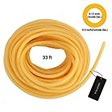 Natural Latex Rubber Tubing Speargun Band Slingshot Catapult Surgical Tube Rubber Hose 0.2' OD 0.12' ID, 33ft