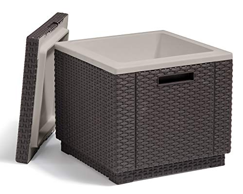 Keter Ice Cube Beer and Wine Cooler Table Perfect for Your Patio,...