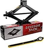 Scissor Jack 2.5 tons (5,511 lbs) Capacity with Ratchet Handle Effort Saving