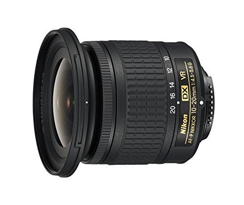 Nikon - Objetivo AF-P DX 10-20 mm f/4.5-5.6G VR, Color Negro -