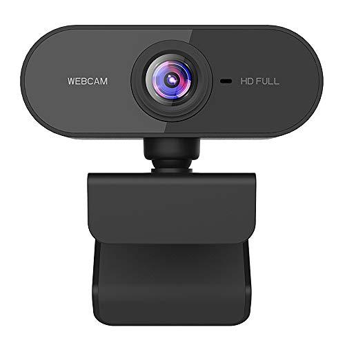Dewanxin Webcam per PC, Webcam 1080p Full HD per PC, Laptop y Mac, USB 2.0 Videocamera con Microfono a Cancellazione di Rumore e Base Girevole a 360 , per Videochiamate, Studio, Conferenza, Giochi