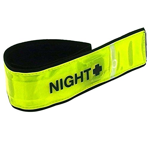 MYST(マイスト) LED発光反射アームバンド 黄色 約40×370mm (5508) 夜間のウォーキング・ランニング・作業用