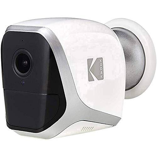 KODAK W101 Videocamera Di Sorveglianza FULL HD 1080p Completamente Autonoma. Connessione WiFi e Batteria A Lunga Durata. Da Interno E Esterno Con Batteria (4 Batterie AA LR6)