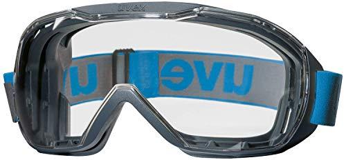 Uvex Megasonic - Schutzbrille für Arbeit & Labor - Transparent/Anthrazit-Blau