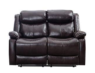 Romatlink Living Room Set Recliner Sofa Chair, PU Leather Sofa Loveseat Home Theater seat Sofa high-end, Manual Adjustment, Suitable for Family Reading, Classic Design Recliner Sofa