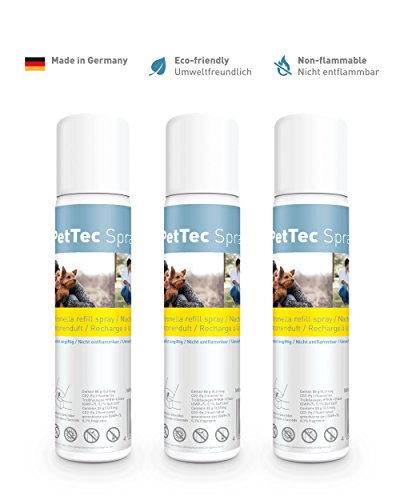 PetTec Spray Made in Germany, Nachfüllspray, 1er Oder 3er Set, Citronella Oder Neutral, Commander, Innotek, Petsafe, 75ml