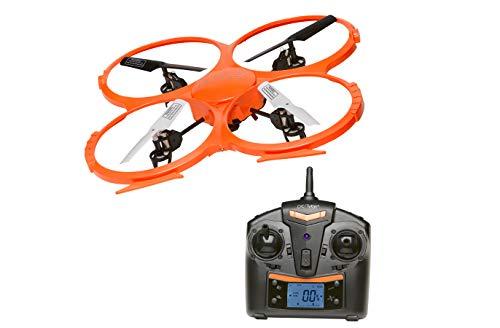 Drone grande con telecamera quadricottero Denver DCH-330. Fotocamera HD integrata. Giroscopio a 6 assi. 4 canali. Alta stabilit. Frequenza del telecomando da 2,4 GHz.