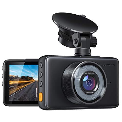 APEMAN Dash Cam Telecamera per Auto 1080P FHD 3 pollici Schermo grandangolare 170 °, G-Sensor, WDR, Monitor di parcheggio, Registrazione in loop, Rilevamento del movimento