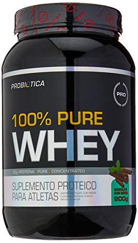 100% Pure Whey - Chocolate com Menta, Probiótica, 900 g