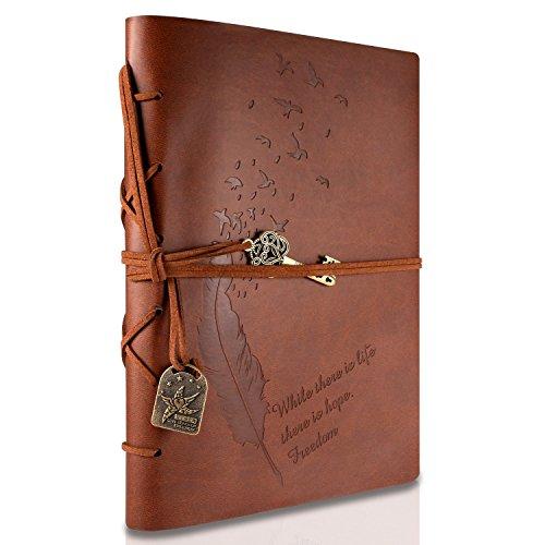 RYMALL Carnet De Voyage A5, Journal Intime, New Cuir Vintage Magique Key...