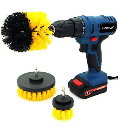 Electric Drill Brush Accessories,Deesse Kitchen Cleaning Brush, Power Scrubber Cleaning Brush Attachment Set All...