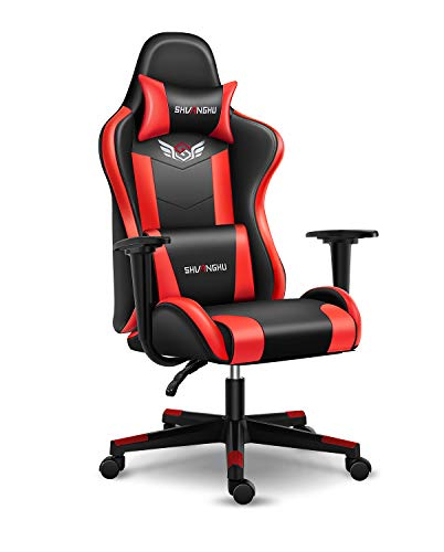 shuanghu Gaming Chair Office Chair Ergonomic PC Computer Chair Reclining Racing Chair with Headrest...